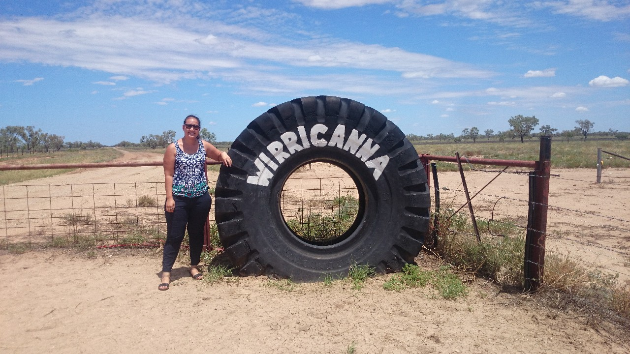Teacher with Wirricanna wheel.